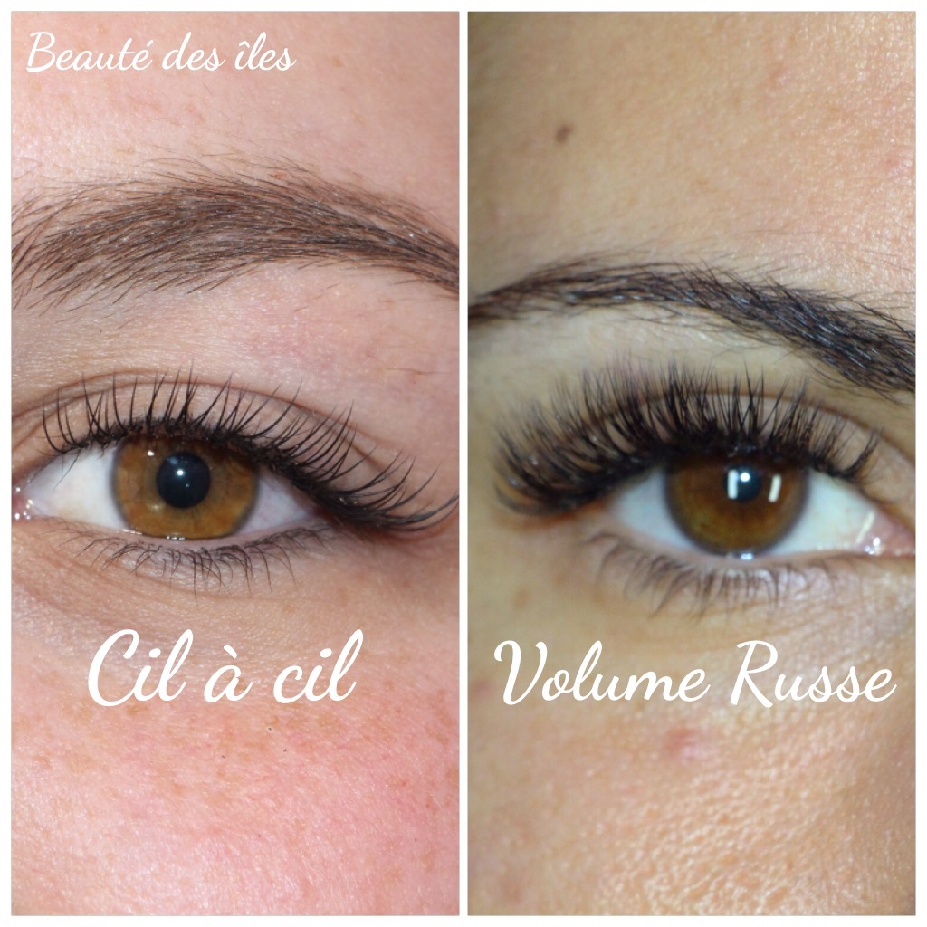 Exemple d'extension de cils
